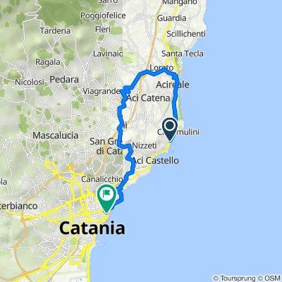 Da Via Livorno 51A, Aci Castello a Via Umberto I 350, Catania