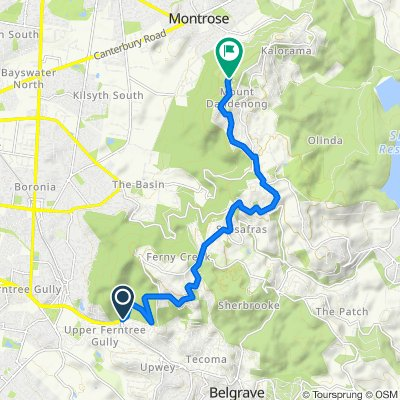 Mt Dandenong Tourist Road, Upper Ferntree Gully to 26 Observatory Road, Mount Dandenong