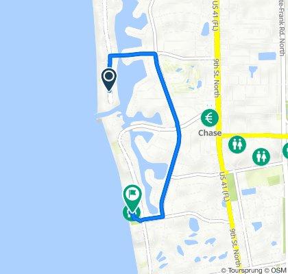 2500 Gulf Shore Blvd N, Naples to 1301 Gulf Shore Blvd N, Naples