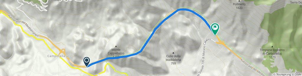 Da Autostrada del Mediterraneo, Morano Calabro a Autostrada del Mediterraneo, Morano Calabro