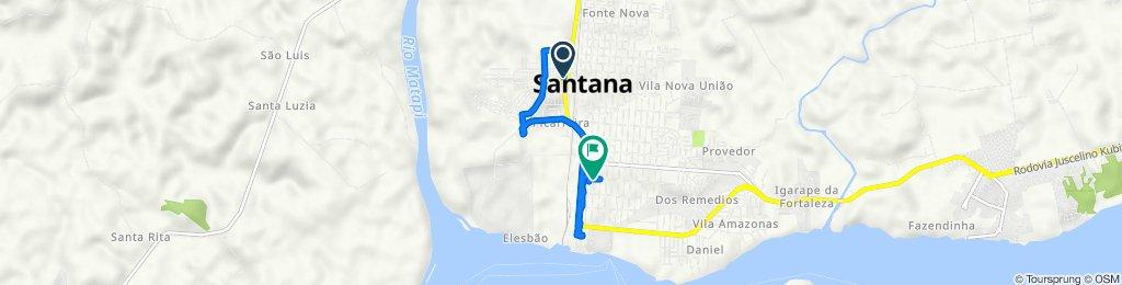 De Rod. Duca Serra, 5967 - Distrito Industrial, Santana - AP, 68925-231, Brasil a Avenida Sete de Setembro 817