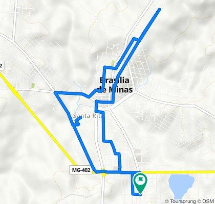 De Rua Monte Azul, 31–115, Brasília de Minas a Rua Monte Azul, 31–115, Brasília de Minas