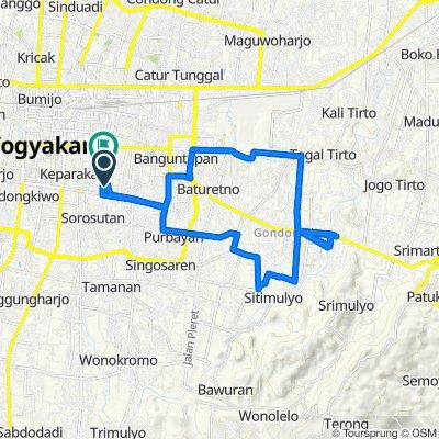 Gang Menur 6, Kecamatan Umbulharjo to Jalan Golo 25, Kecamatan Umbulharjo