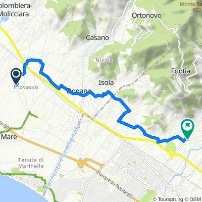 Da Via Fontanella 3, Colombiera a Viale 20 Settembre 192, Carrara