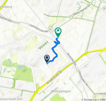 Route von Pappelallee 27, Mannheim