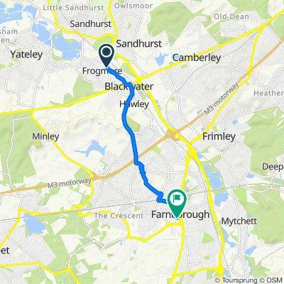 85 Rosemary Lane, Camberley to 93 Queensmead, Farnborough