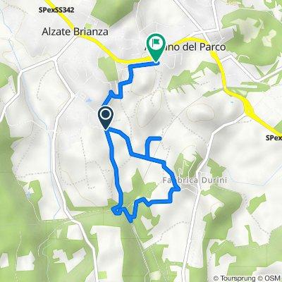 Da Strada Comunale della Valsorda, Alzate Brianza a Via Don Giovanni Minzoni 21, Alzate Brianza