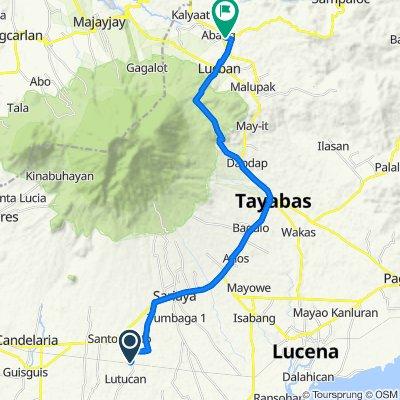 Lutucan - Guisguis Road 368, Sariaya to Lucban - Luisiana Road