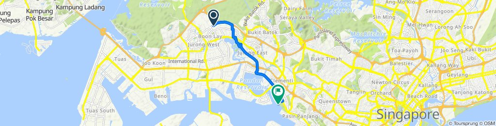 Route from 547 Jurong West Street 42, Jurong