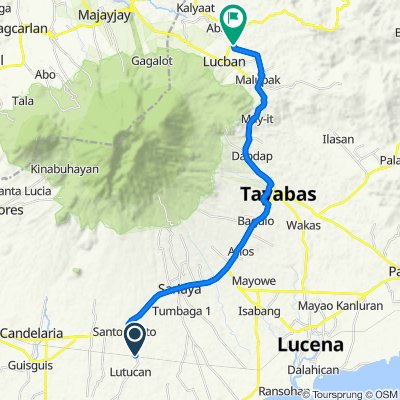 Lutucan - Guisguis Road 368, Sariaya to Lucban Diversion Road