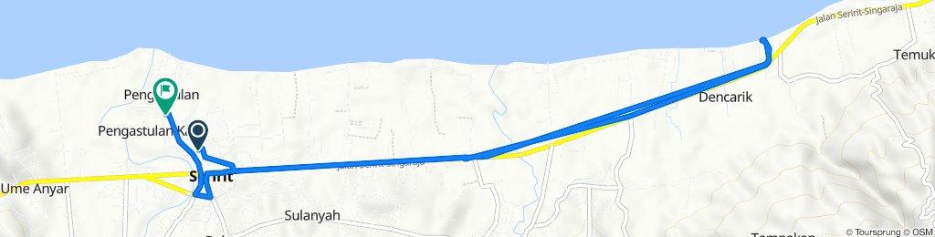 Route from Jalan Udayana - Seririt, Seririt