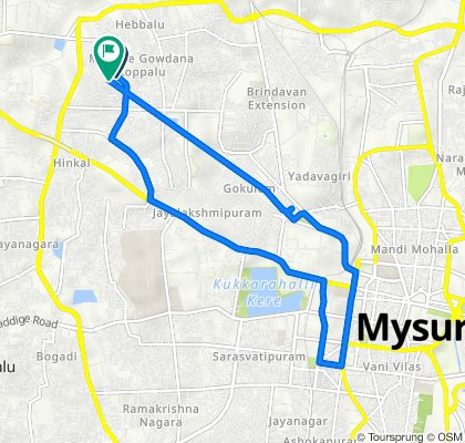 Mysuru to 40/3 Main Road #1763, Mysuru