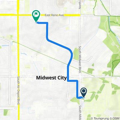 Bradley Circle 620, Midwest City to West Pratt Drive 221, Midwest City