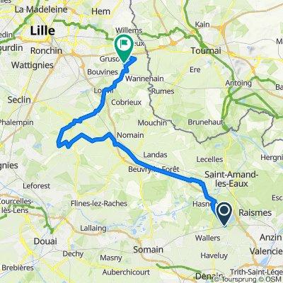 Roubaix, nur 5 Sterne (Arenberg, Pevele, Carrefour)