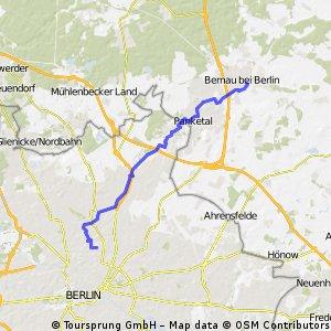 Prenzlauer Berg - Bernau (auf dem Pankeweg)