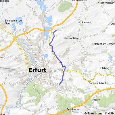 Melchendorf nach Schwerborn