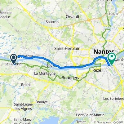 Rue du Clos Grillé, Le Pellerin à 85 Rue Saint-Jacques, Nantes