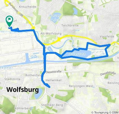 Alte Dorfstraße 18J, Wolfsburg nach Alte Dorfstraße 18J, Wolfsburg