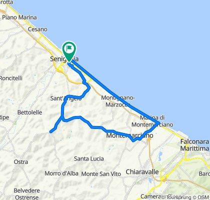 Da Via Bruno Buozzi 1, Senigallia a Via Bruno Buozzi 2, Senigallia