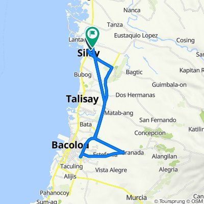 Olaybar Street, Silay City to Technical Vocational Building, Silay City