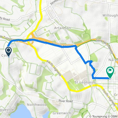 Longueville Road 186, Lane Cove to Henry Lane 88, Naremburn
