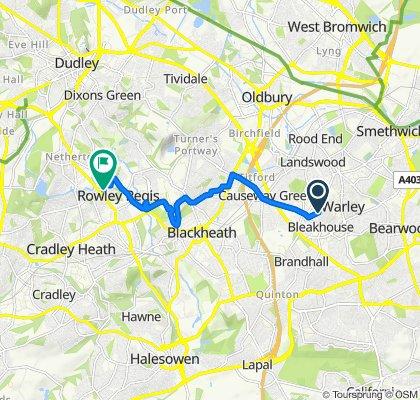 53 Sandfields Road, Oldbury to 9 Hereford Road, Dudley