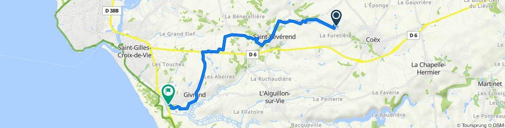 Itinéraire vers 15 Rue du Jaunay, Givrand
