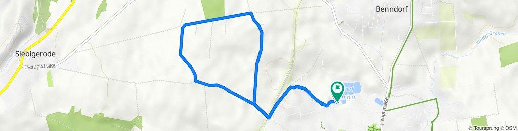Finnentroper Straße 4–12, Helbra nach Finnentroper Straße 6, Helbra