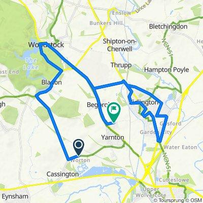 Yarnton Road, Worton, Witney to 3 Livingstone Close, Kidlington