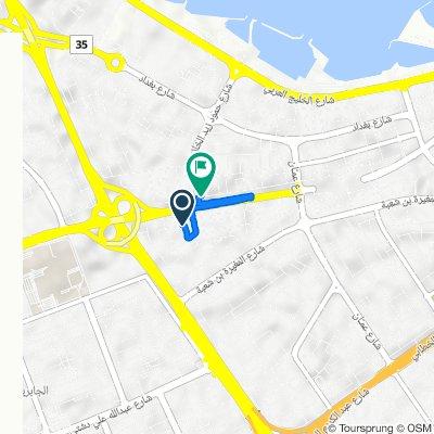 Abu Dhar Al-Ghifari St Lane 23 2, Salmiya to Abdulla Al Fadalah Street 131, Salmiya
