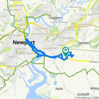 18 Spencer Way, Newport to 5 Lydney Walk, Newport