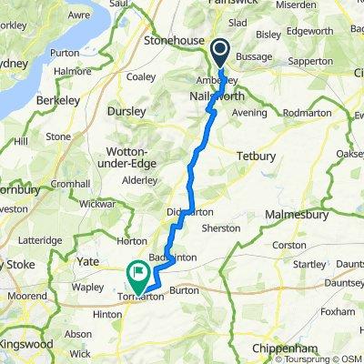 Route to High St, Tormarton, Badminton