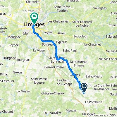 Limoges à Saint-Germain les Belles - 41.2km