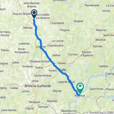Saint-Germain les Belles à Argentat - 79.1km