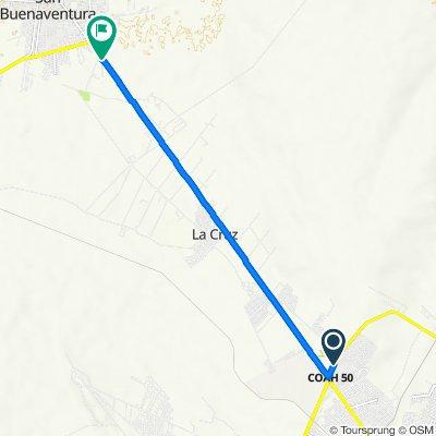 De Libramiento Carlos Salinas de Gortari, Frontera a Calle Francisco I. Madero, San Buenaventura