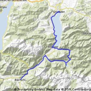 Z Bad Ischl přes Offensee do Gmunden