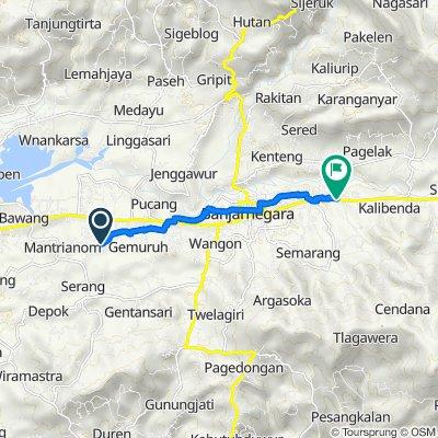 Jalan Raya Tampomas, Bawang to Sokanandi, Kecamatan Banjarnegara