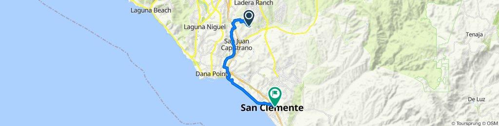 27782 Horseshoe Bend, San Juan Capistrano to 100 Avenida Presidio, San Clemente