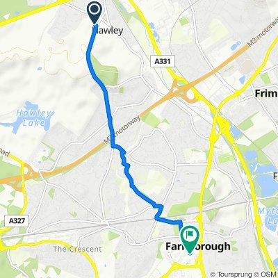 Hawley Memorial Hall, Hawley Green, Camberley to 96B Queensmead, Farnborough