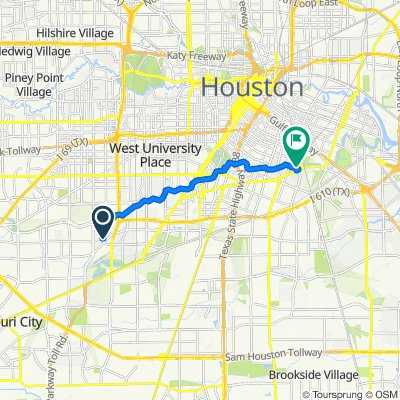 5134 Lymbar Dr, Houston to Martin Luther King Blvd, Houston