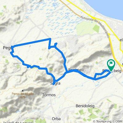 Route 01: Beniarbeig-Pego
