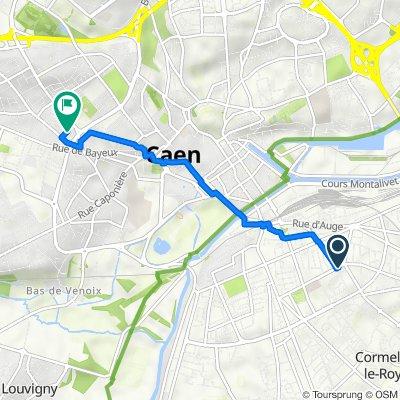 62 Avenue du Capitaine Georges Guynemer, Caen to 19 Rue de Jersey, Caen