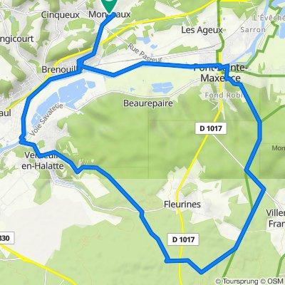 Cinqueux - Verneuil-en-Halatte - Pont-Sainte-Maxence - 30002 - UtagawaVTT.com