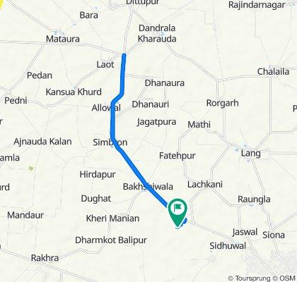 20 km route