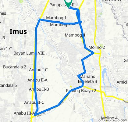 Unnamed Road, Bacoor to Unnamed Road, Bacoor
