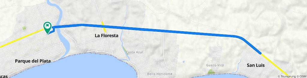 De G 360, Parque del Plata a G 360, Parque del Plata
