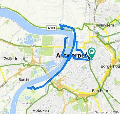 Antwerpen naar Carnotstraat 30, Antwerpen