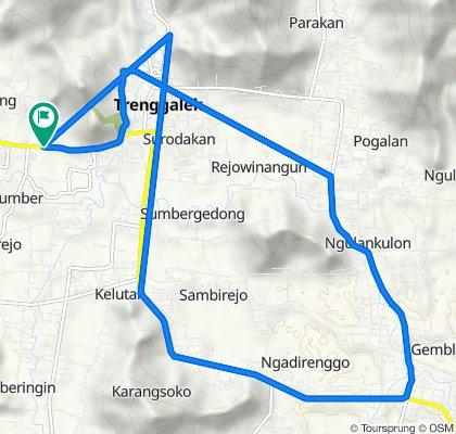 Unnamed Road, Kecamatan Trenggalek to Jalan Raya Trenggalek - Ponorogo, Karangan