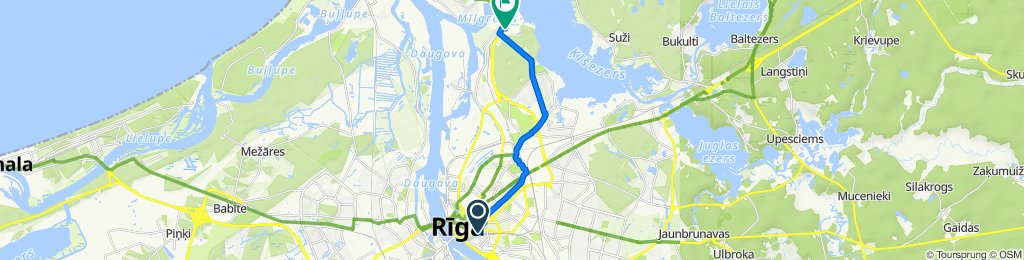 Centrs, Rīga to Briežu iela 10, Rīga