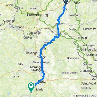 Maandag Dag 4 19-07-2021 Wasserbillig/Grevenmacher-Corny sur Moselle(Metz)Camping Paquis Corny